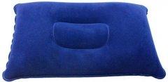 Надувная подушка для кемпинга Supretto 30х20х9 см Синий (5991-0001)