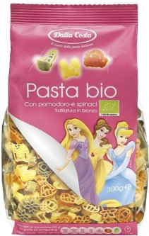 Макаронные изделия DALLA COSTA Disney Волшебная принцесса Томат-шпинат Органические 300 г (8016419400371)