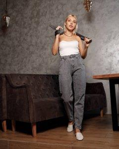 Жіночі джинси Houseshop 300 HS 27 Сірий (HS 300 - 15157)