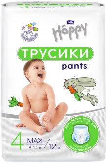 Подгузники-трусики детские Bella Baby Happy Maxi 8-14 кг 12 шт (5900516603229)