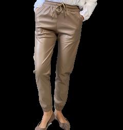 Джогери жіночі WAFA 829 еко-шкіра коричневі М