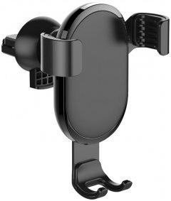 Автодержатель для телефона СolorWay Metallic Gravity Holder Black (CW-CHG01-BK)
