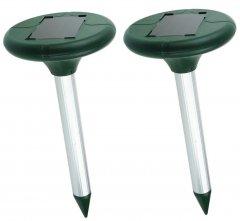 Отпугиватель кротов на солнечной батарее Supretto 2 шт. Зеленый (6048-0001)