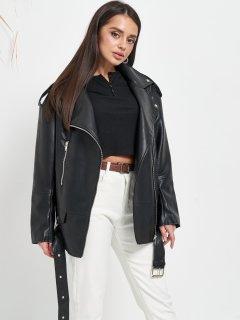 Куртка из искуственной кожи Remix W2117 L Черная (Rem2200000008886)