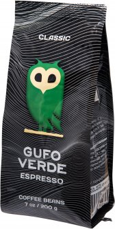 Кофе в зернах свежеобжаренный Gufo Verde Esresso 200 г (4820204152369)