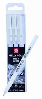 Набор гелевых ручек Sakura Basic Белый 3 размера 05-08-10 (8712079409319)