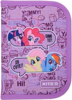 Пенал с наполнением Kite Education My Little Pony 1 отделение 2 отворота Фиолетовый (LP21-622H)