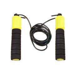 Спортивная скакалка со счетчиком, цвет черно-желтый (HOP-5732005)