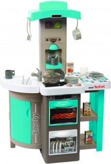 Интерактивная кухня Smoby Toys Тефаль Повар раскладная с эффектом кипения Голубая (312201) (3032163122012)