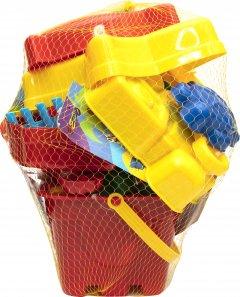 Большой набор для песочницы Jiahe Plastic 22 предмета Красный (JH001)