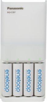 Зарядное устройство Panasonic USB in/out Power Bank +4AA 1900 mAh (K-KJ87MCC40USB)