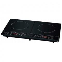 Індукційна плита Clatronic DKI 3609 на 2 конфорки з таймером і автовідключенням 3500 Вт Чорний