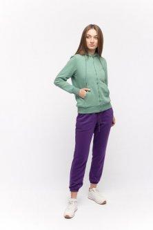 Штани спортивні жіночі з резинкою Yuki L фіолетовий (YK-19)