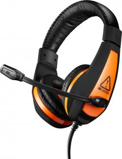 Игровые наушники Canyon Star Raider Black/Orange (CND-SGHS1A)