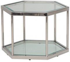 Журнальный столик Vetro Mebel СK-3 Прозрачный / серебряный (СK-3-crystal)