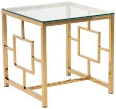 Журнальный столик Vetro Mebel СL-2 Прозрачный / золотистый (СL-2 -toned)