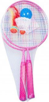 Ракетки для бадминтона Qunxing Toys розовый (KR-8972-2)