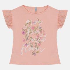 Футболка Smil Літня квітка 110569 122 см Рожевий персик (4824039163026)