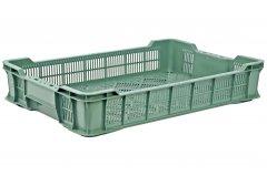 Ящик пластиковый перфорированный Полимерцентр 600х400х110 мм Зеленый (ST6411R-3.1.1-GR)