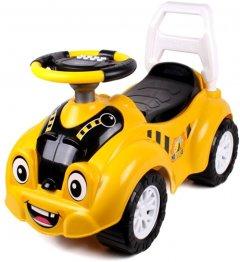 Автомобиль-каталка ТехноК для прогулок Желто-черный (4823037606689)