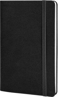 Деловая записная книга Optima Vivella А5 256 страниц в линейку на резинке Черная (O27104-01)