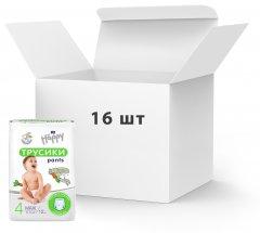Упаковка Подгузники-трусики детские Bella Happy Baby maxi 8-14 кг 16 пачек х 12 шт (BB-055-LU12-002)