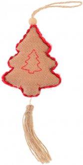 "Елочная игрушка Новогодько (YES! Fun) ""Елочка"", светло-коричневая, h-16 см (973485) (5056137158072)"