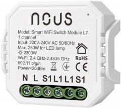 Умное реле NOUS Wi-Fi одноканальный выключатель L7 (5907772033784)