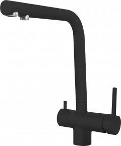 Смеситель кухонный с подключением к фильтру ELLECI T01 Full Black (nero) 40