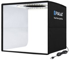 Лайткуб (фотобокс) для предметной съемки Puluz PU5025 25x25x25 см Черный (PU5025B)