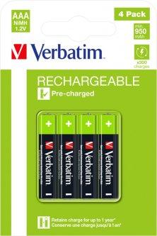 Аккумуляторные батарейки Verbatim типу AAA (HR03) 4 шт (49514)