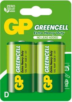 Батарейки GP GREENCELL 13G-U2 бочка D 2 шт (4891199000089)
