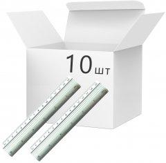 Набор линеек KLERK алюминиевых 15 см Серебристых 10 шт (Я45265_KL01515_10)
