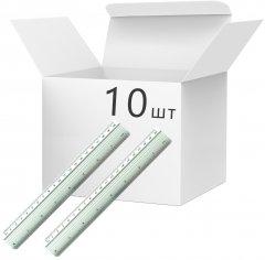 Набор линеек KLERK алюминиевых 20 см Серебристых 10 шт (Я45838_KL3153_10)