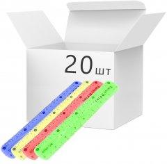 Набор линеек VGR пластиковых гибких 20 см Разноцветных 20 шт (Я45846_VR11054_20)