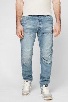 Чоловічі блакитні джинси 5620 3D Original Relaxed tapered G-Star RAW 33-34 D17229,B988