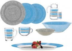 Сервиз столовый Luminarc AMB Stony Blue & Grey 46 предметов (Q4728)