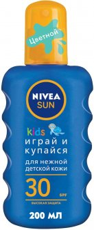 Детский солнцезащитный спрей Nivea Sun Играй и купайся SPF 30 200 мл (4005808854035)
