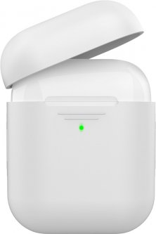 Силиконовый чехол AhaStyle дуо для Apple AirPods White (AHA-02020-WHT)
