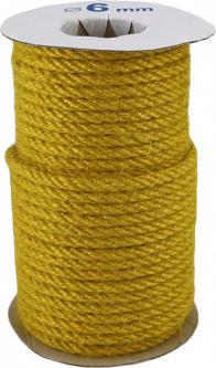Канат джутовый Радосвіт 6 мм х 25 м Желтый (4820172931959)