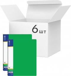 Набор папок пластиковых Economix А4 с 10 файлами Зеленых 6 шт (E30601-04)