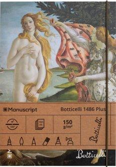 Скетчбук Manuscript Botticelli 1486 Plus A5 Чистые 160 страниц с открытым переплетом (M - Botticelli 1486+)