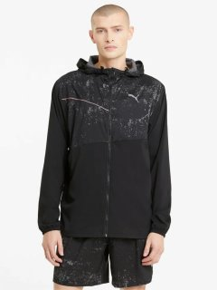 Ветровка Puma Run Graphic Hooded Jacket 52020501 XL Black (4063697429741)