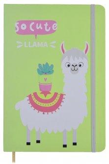 Блокнот на резинке Malevaro Веселая лама Light green A6 клетка 96 листов (NC6039-04)