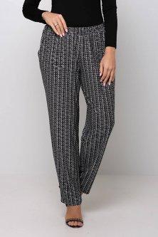 Трикотажные брюки на резинке БАРНИ черные 58
