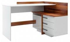 Компьютерный стол WUDUS Эстет 129х102х75 см WUDUS Орех Дижон Белый (C-13)