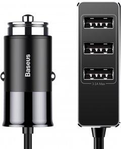 Автомобильное зарядное устройство Baseus Enjoy Together Four Interfaces 5.5A 4 USB Black (CCTON-01)