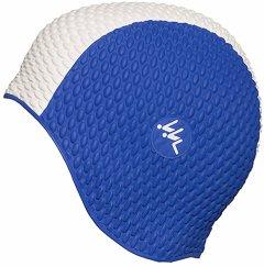 Шапочка для плавания Fashy резиновая Синий/Белый (3261 03)