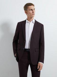 Пиджак Zara 1564/420/606-ACXK 46 Темно-бордовый (DD3000002729166)