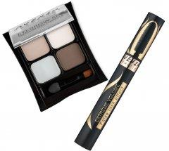 Набор для макияжа Avenir Cosmetics Тени для бровей №4 + Тушь для ресниц Extreme Volume Черная (4820440814397)